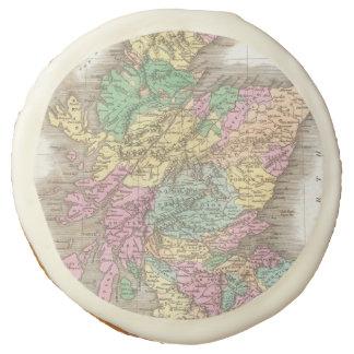 Vintage Map of Scotland (1827) Sugar Cookie