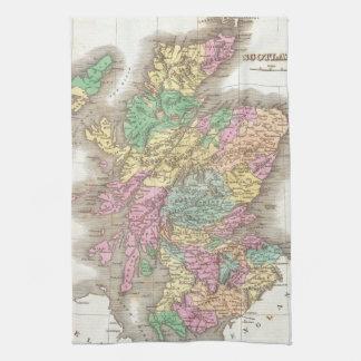 Vintage Map of Scotland (1827) Towels