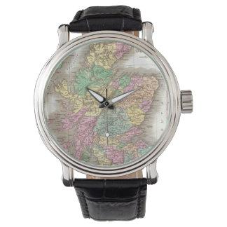 Vintage Map of Scotland (1827) Wrist Watch