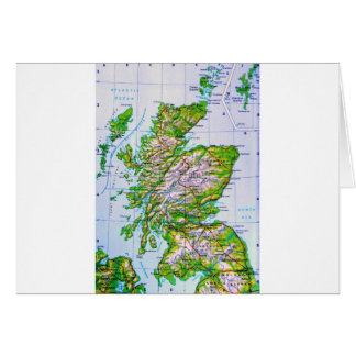 Vintage Map of Scotland Orkney Islands Greeting Card