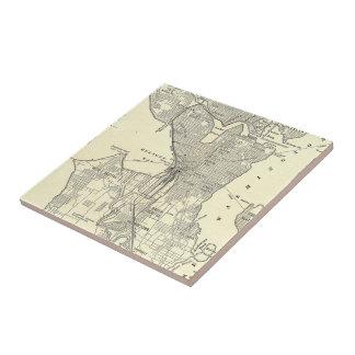 Vintage Map of Seattle (1914) Ceramic Tile