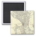 Vintage Map of Seattle (1914) Fridge Magnets