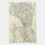 Vintage Map of Seattle (1914) Towels