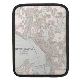 Vintage Map of Seattle Washington (1901) Sleeve For iPads