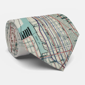 Vintage Map of Seattle Washington (1911) Tie