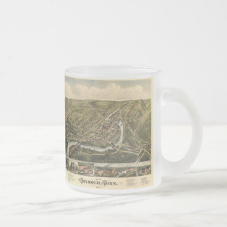 Vintage Map of Seymour Connecticut (1879) Frosted Glass Coffee Mug
