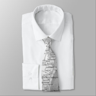 Vintage Map of Shanghai China (1912) Tie