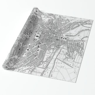 Vintage Map of Sheffield England (1823) Wrapping Paper