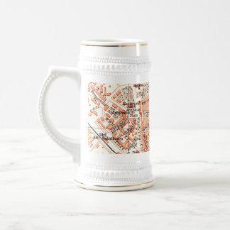 Vintage Map of Solothurn Switzerland (1913) Coffee Mugs