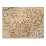 Vintage Map of South Africa (1880) Postcard