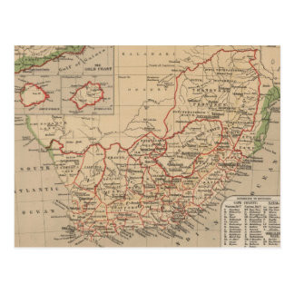 Vintage Map of South Africa (1880) Post Cards