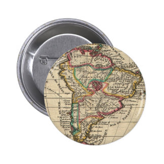 Vintage Map of South America (1747) Pinback Button