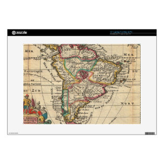 """Vintage Map of South America (1747) Decals For 15"""" Laptops"""