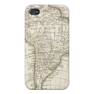 Vintage Map of South America (1762) iPhone 4 Cover