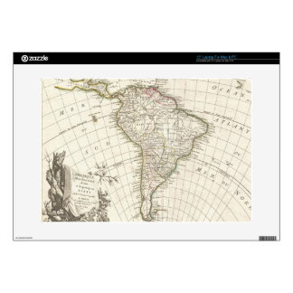 Vintage Map of South America (1762) Laptop Decals