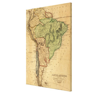 Vintage Map of South America (1821) Stretched Canvas Prints