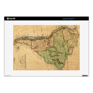 "Vintage Map of South America (1821) 15"" Laptop Skins"
