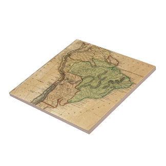 Vintage Map of South America (1821) Tile