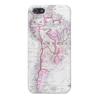 Vintage Map of South America (1861) Cover For iPhone 5