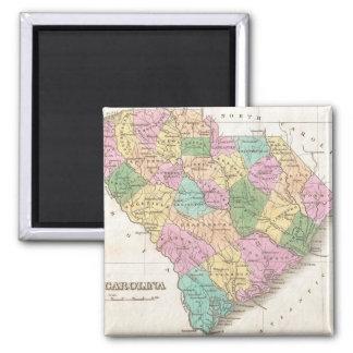 Vintage Map of South Carolina (1827) 2 Inch Square Magnet