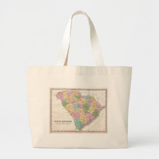 Vintage Map of South Carolina (1827) Bags