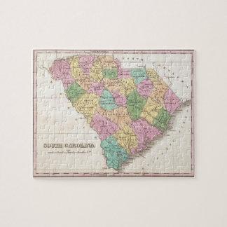 Vintage Map of South Carolina (1827) Jigsaw Puzzle