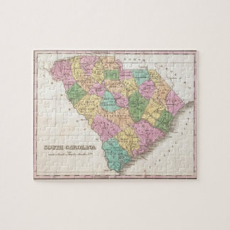 Vintage Map of South Carolina (1827) Puzzle