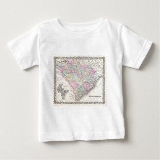 Vintage Map of South Carolina (1855) Baby T-Shirt