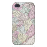 Vintage Map of South Carolina (1855) iPhone 4/4S Cover