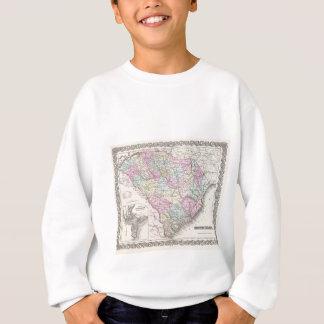 Vintage Map of South Carolina (1855) Sweatshirt
