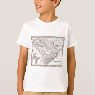 Vintage Map of South Carolina (1855) T-Shirt