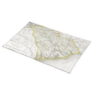 Vintage Map of South Carolina (1889) Cloth Placemat