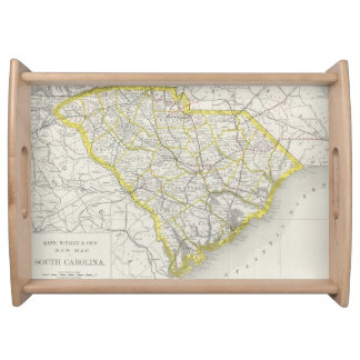 Vintage Map of South Carolina (1889) Serving Tray