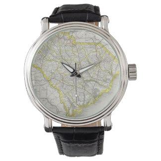 Vintage Map of South Carolina (1889) Wristwatch
