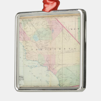 Vintage Map of Southern California (1874) Metal Ornament