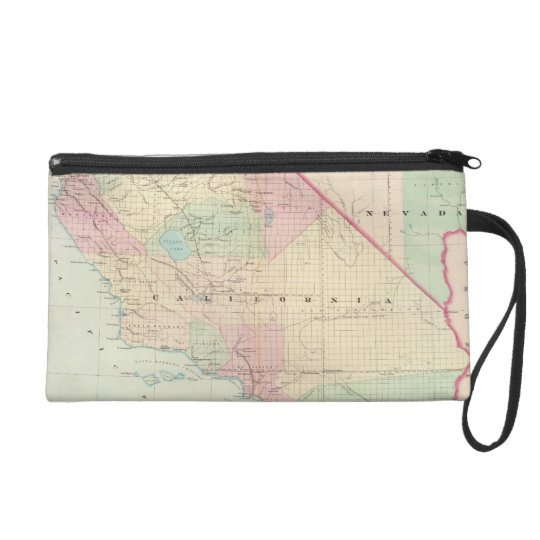Vintage Map of Southern California (1874) Wristlet Purse