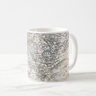 Vintage Map of Southern Europe & Western Asia Gift Coffee Mug