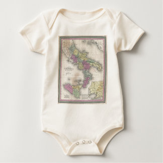 Vintage Map of Southern Italy (1853) Baby Bodysuit