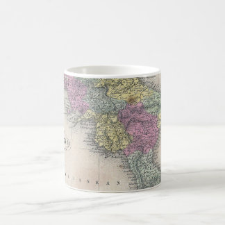 Vintage Map of Southern Italy (1853) Coffee Mug