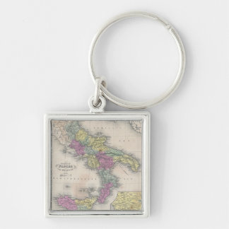 Vintage Map of Southern Italy (1853) Keychain