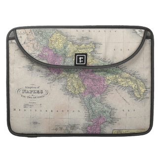 Vintage Map of Southern Italy (1853) MacBook Pro Sleeve