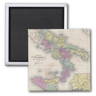 Vintage Map of Southern Italy (1853) Magnet