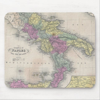 Vintage Map of Southern Italy 1853 Mousepad