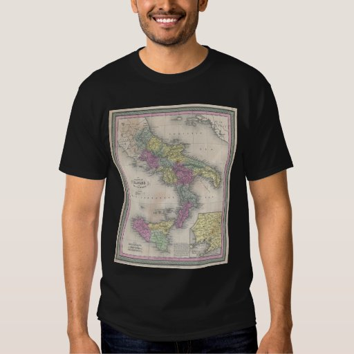 Vintage Map of Southern Italy (1853) Shirt