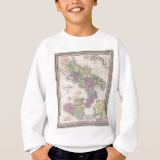 Vintage Map of Southern Italy (1853) Sweatshirt