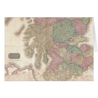 Vintage Map of Southern Scotland (1818) Greeting Card