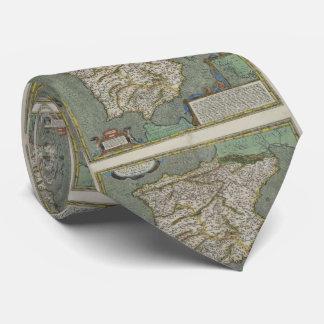 Vintage Map of Spain (1608) Neck Tie