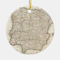 Vintage Map Of Spain (1775) Ceramic Ornament at Zazzle