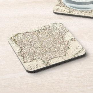 Vintage Map of Spain (1775) Coaster