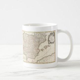 Vintage Map of Spain (1775) Coffee Mug